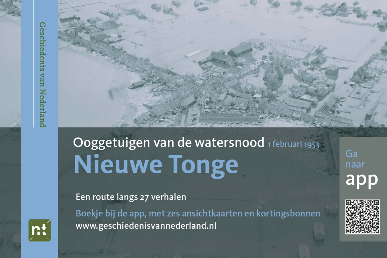 Omslag routeboekje watersnoodramp 1953