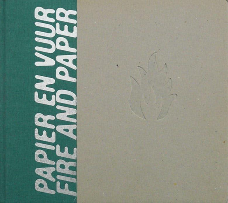 Papier en Vuur | Uitgave Papier Biënnale 1998 omslag