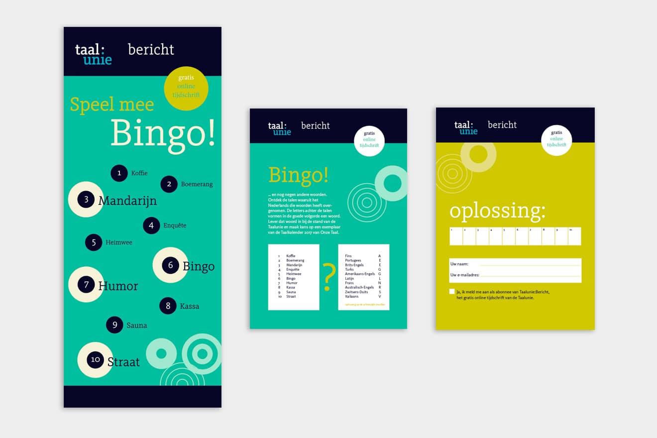 Taalunie | bingo-banner en flyer