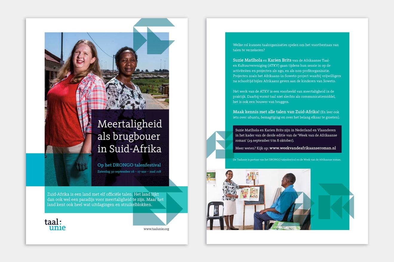 TaalUnie | meertaligheid Zuid-Afrika-flyer