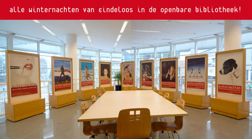 Winternachten affiches in bibliotheek
