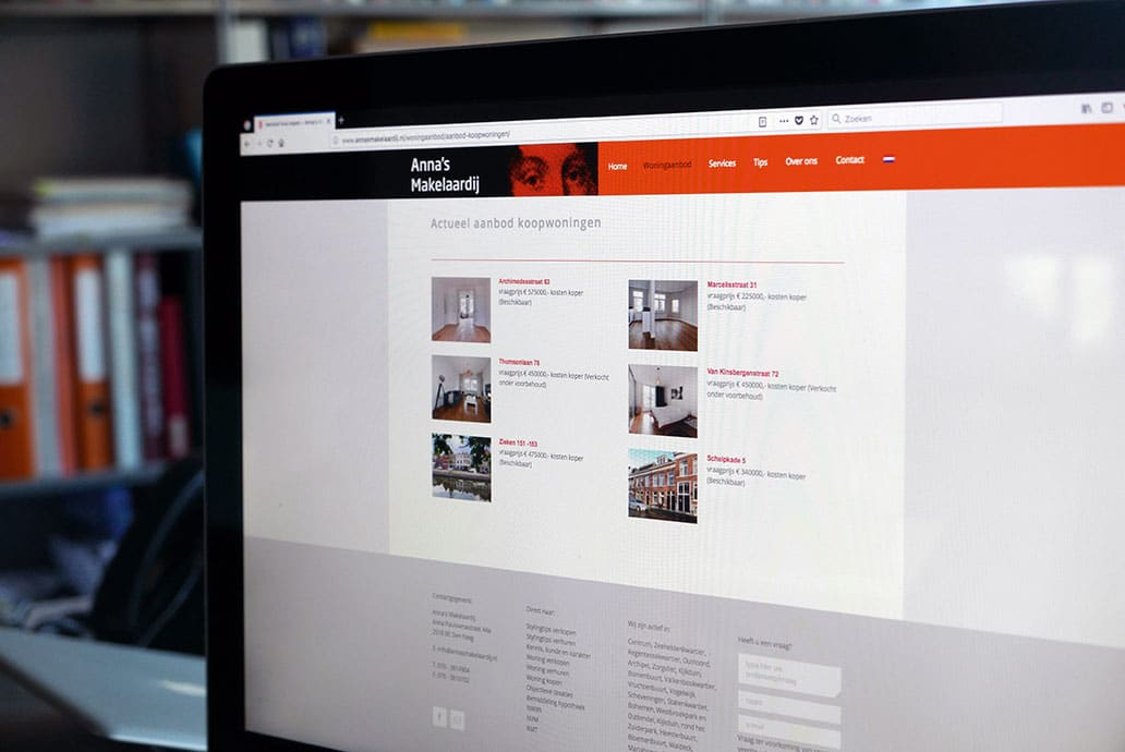 Anna's Makelaardij - website