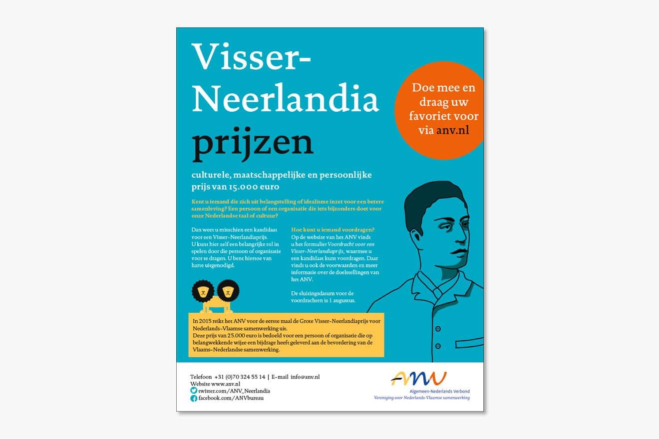 Algemeen Nederlands verbond (ANV) - huisstijl advertentie