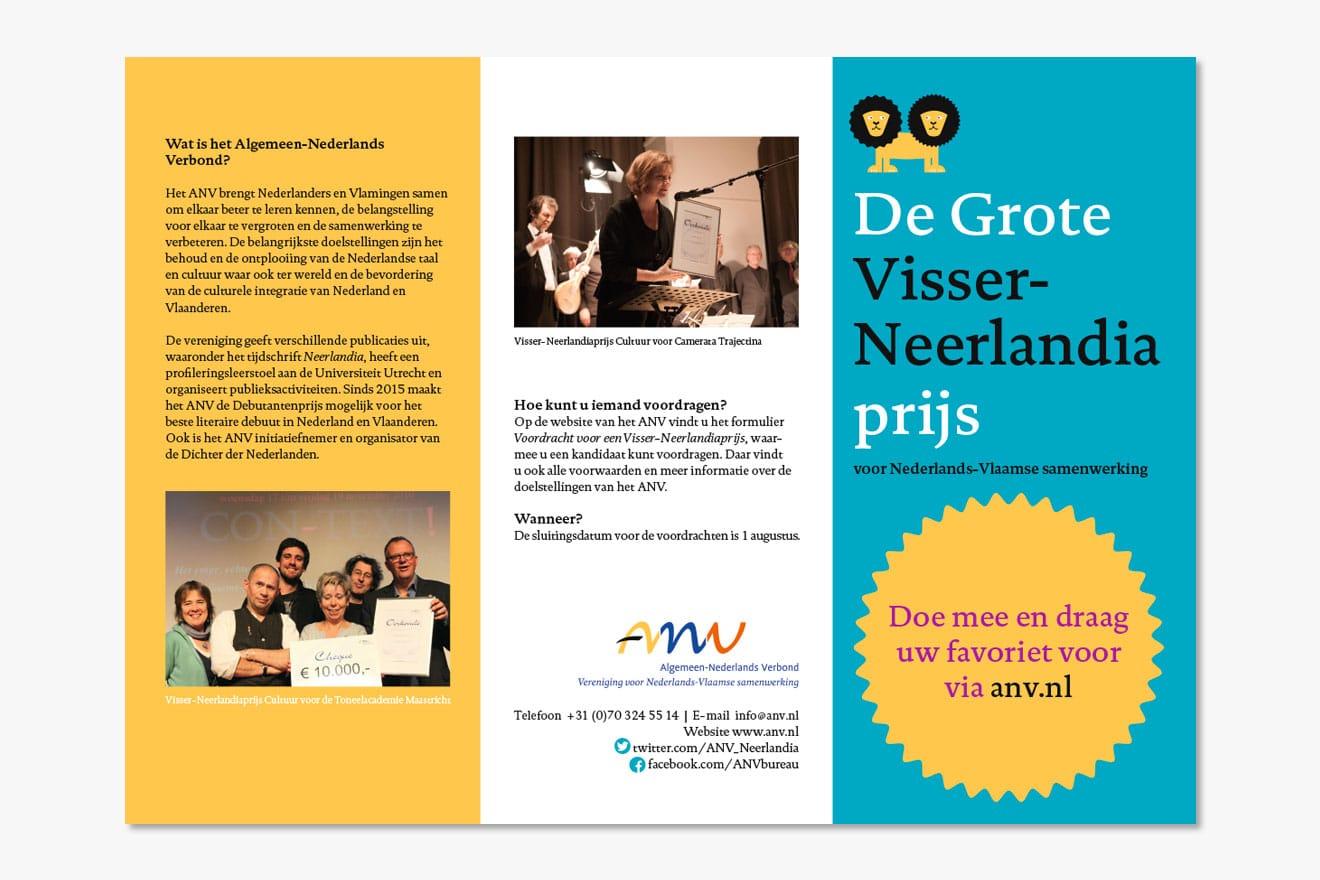 Algemeen Nederlands verbond (ANV) - huisstijl folder