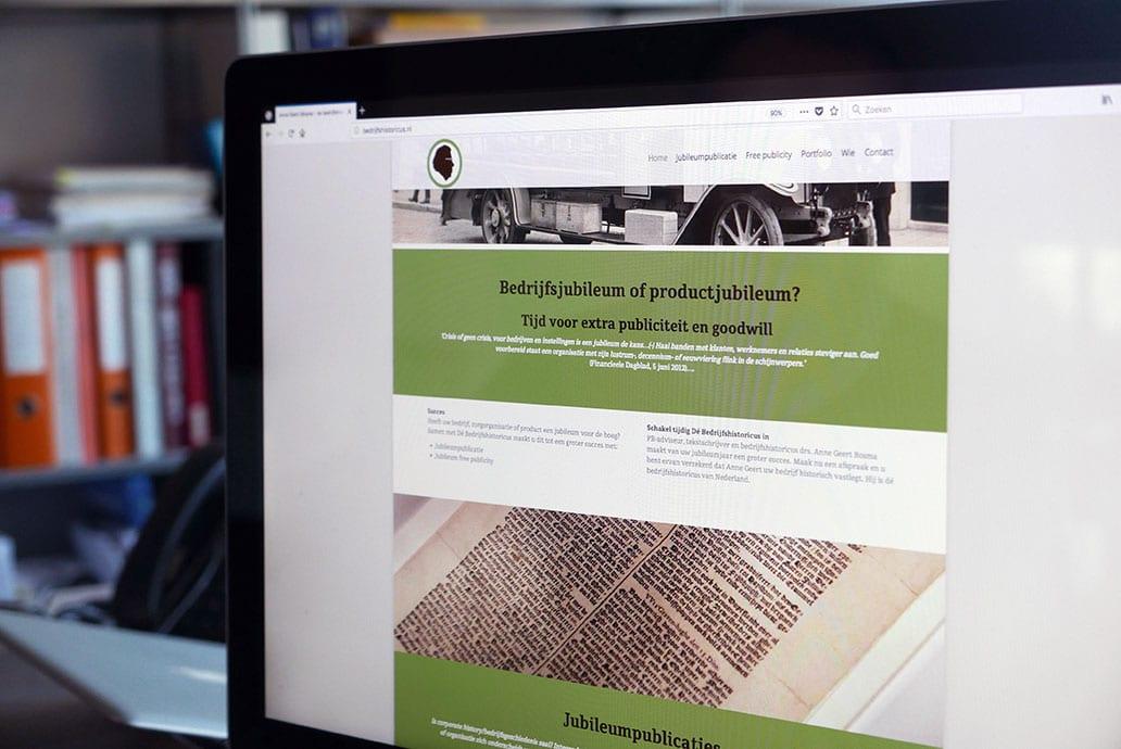Bedrijfshistoricus - website