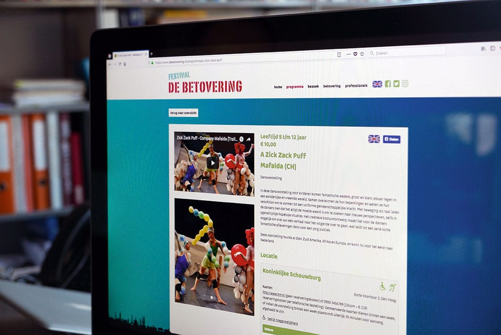 Festival de Betovering - website