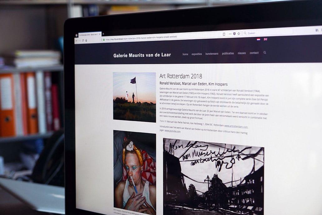 Galerie Maurits van der Laar - website