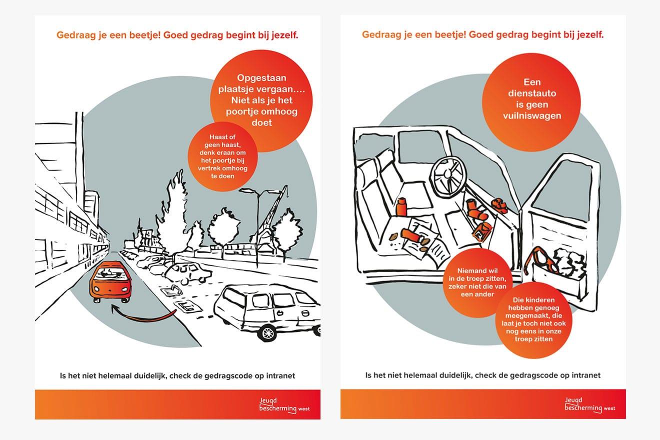 Jeugdbescherming West - illustratie gedragscode