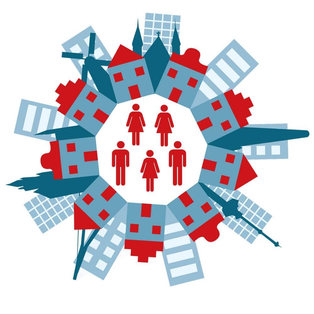 Nederlandse Organisatie voor Wetenschappelijk Onderzoek (NWO) - folder illustratie