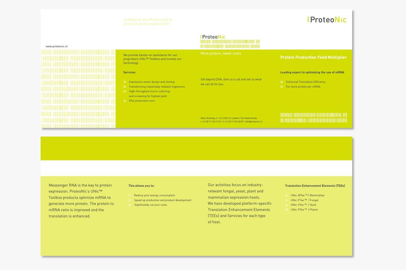 Proteonic - huisstijl folder