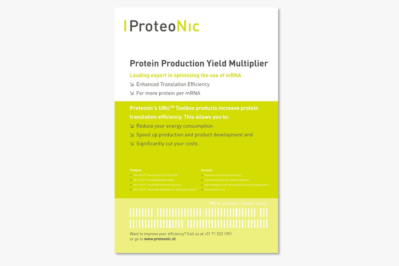 Proteonic - huisstijl poster