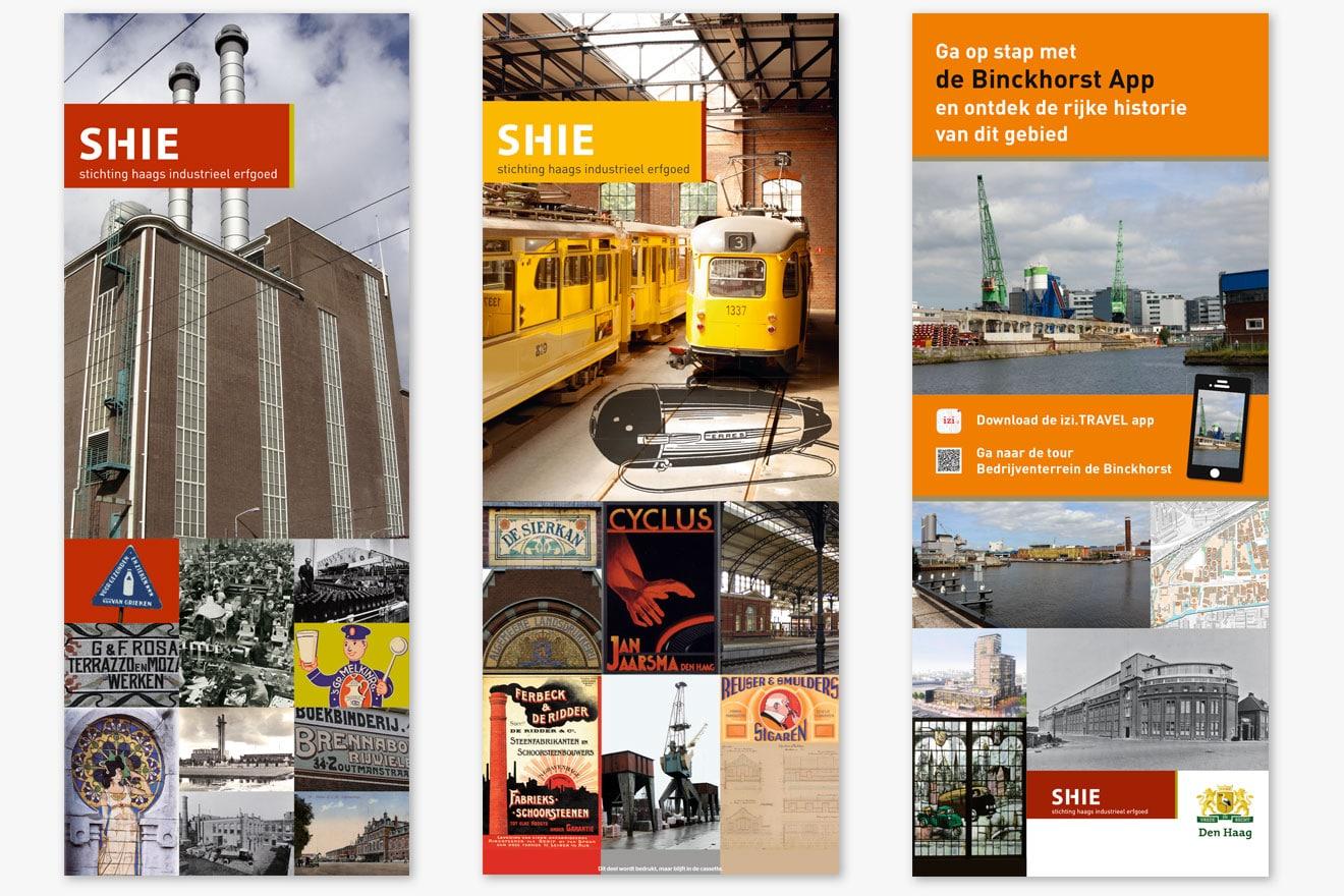 Stichting Haags Industrieel Erfgoed (SHIE) - huisstijl banieren