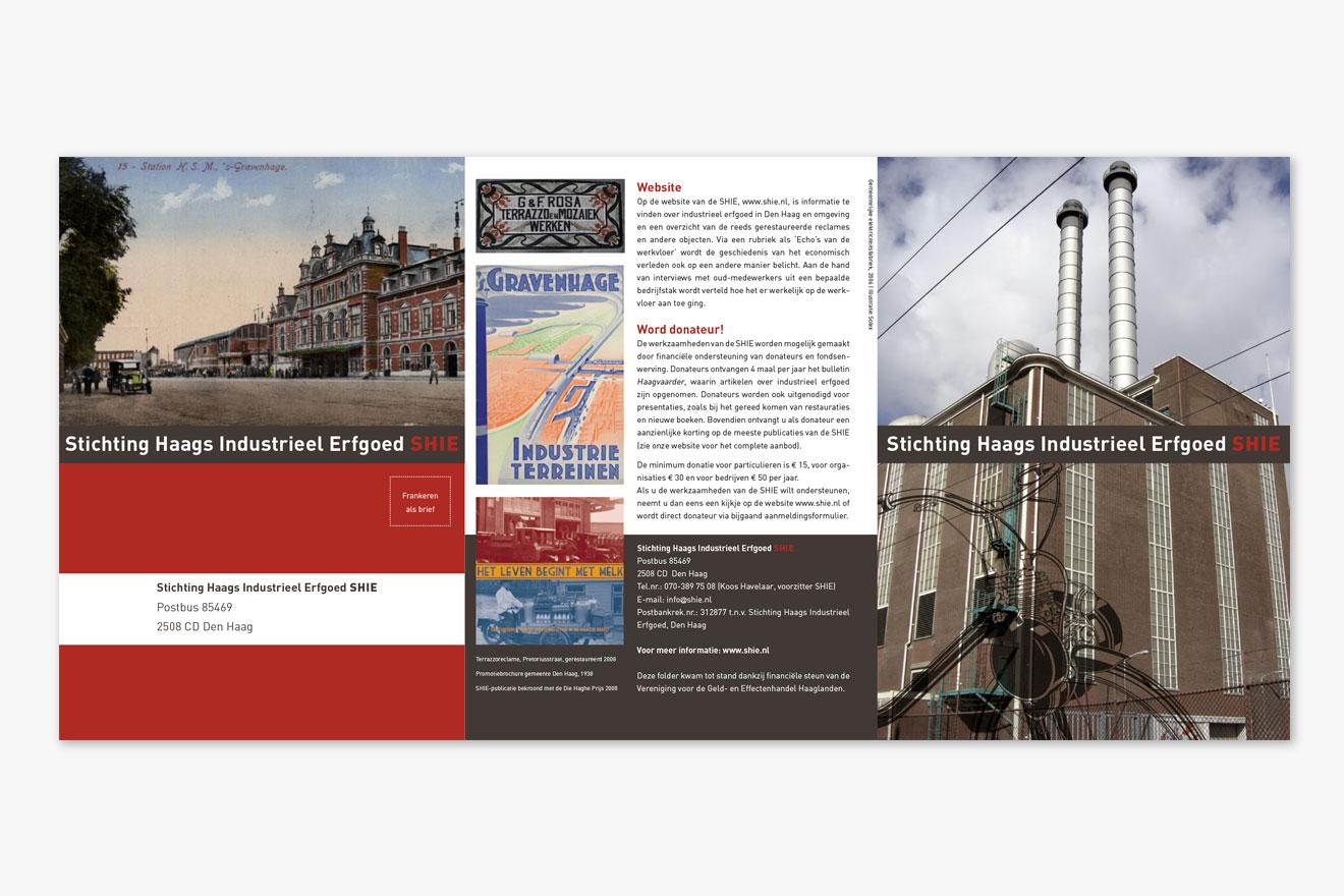 Stichting Haags Industrieel Erfgoed (SHIE) - huisstijl folder