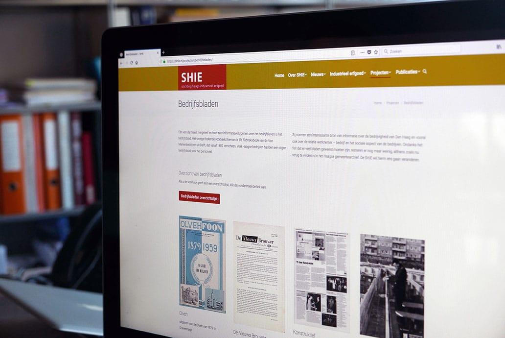 Stichting Haags industrieel Erfgoed (SHIE) - website